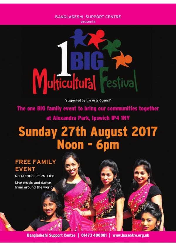 One Big Multicultural Festival flyer 2017