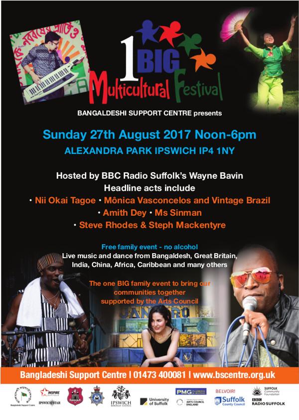 1 Big Multicultural Festival Poster 2017