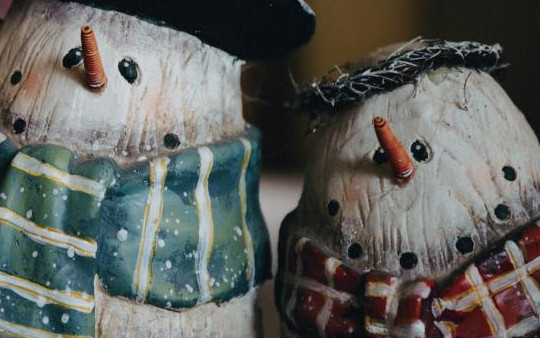 snowmen - hat and scarf
